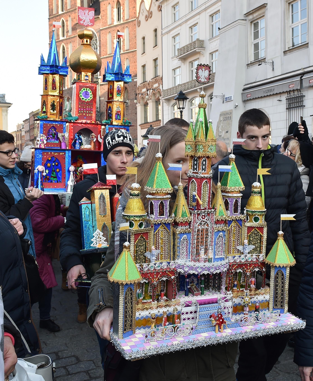 szopki na krakowskim rynku