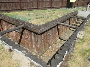 Reconstruction of the observation trench to watch launches at BLizna